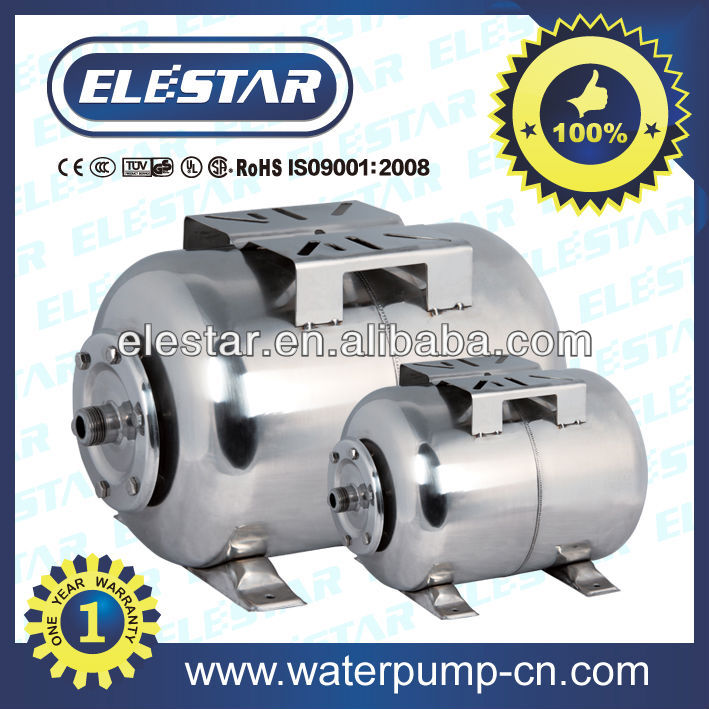 50L Horizontal Type Stainless Steel Expansion Tank for water pump