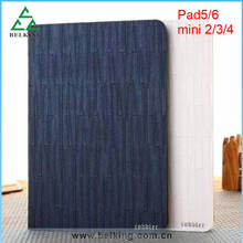 Bamboo Mat Pattern Leather Case For ipad Mini 2 3 4 Drop Resistance Stand Holder Case For iPad Air 1 2