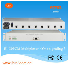 factory directly manufacture 30channels VOIP phone Multiplexer(One signaling) over E1 Communication equipment Cable modem