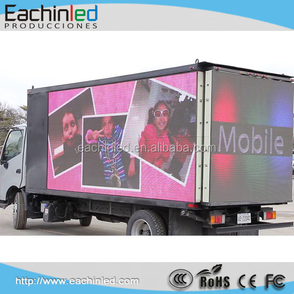 alibaba express P8 outdoor led display full color mobile truck led screens in Chicago