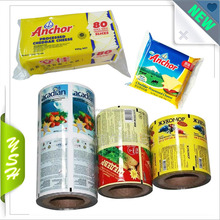 Custom Ice cream plastic packaging roll film to doypack bag for frozen food packaging