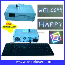 300mw full color portable rgb text typing laser light with free keyboard