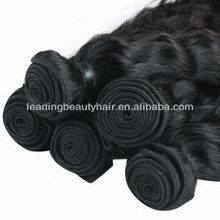 Natural color 100% unprocessed Indian full cuticle virgin hair weft