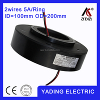 SRH 100200 0 2s ethernet slip ring 100mm. OD200mm. 2Wires, 5A 2 wires