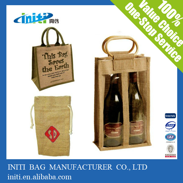 2014 new products alibaba china wholesale wine bottle jute bag