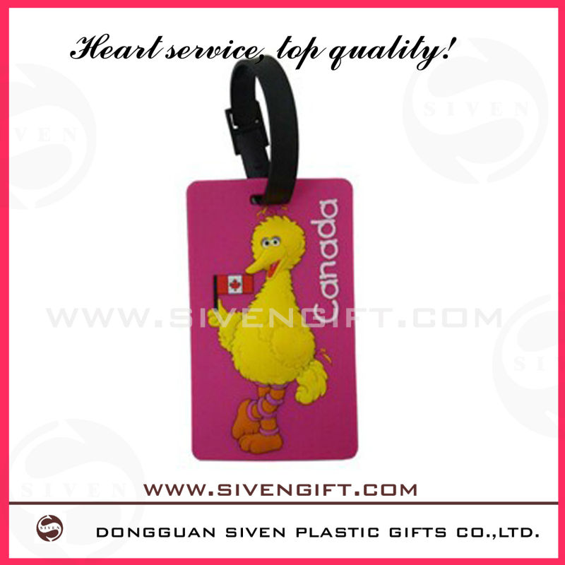 See larger image customed soft pvc luggage tag for promotional use