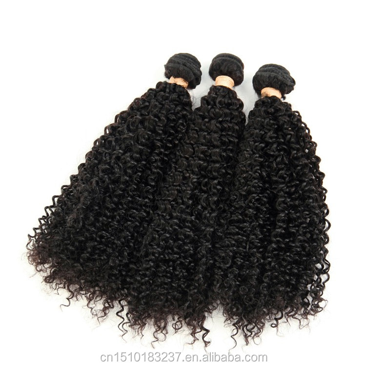 Alibaba expression curly human hair weave, soft hair double weft chinese kinky curly hair