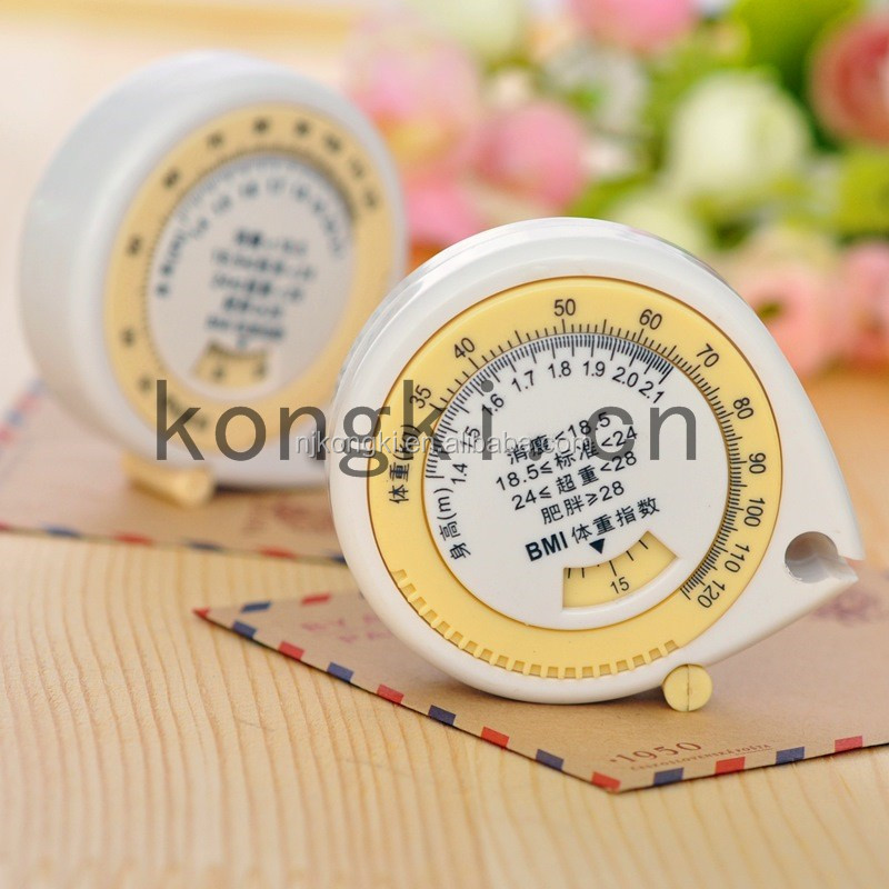 Promotion Gifts Triangle Shape BMI Calculator Tape Measure