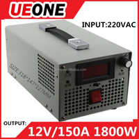 GOOD quality 1800W 12V 150A digital display adjustable switching power supply S-1800-12 2years warranty