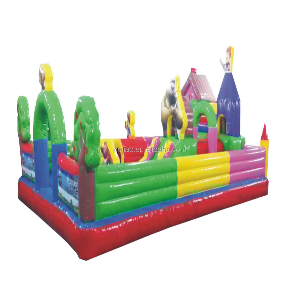 2017 amusement park plastic inflatable summer water slide