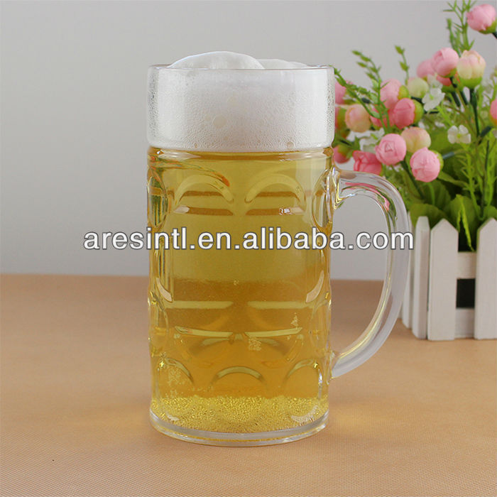1.1 Liter plastic PS dimpled beer stein
