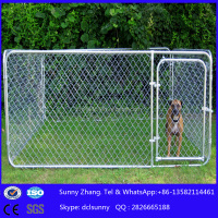 10x10x6ft outdoor backyard portable cheap chain link large dog kennels