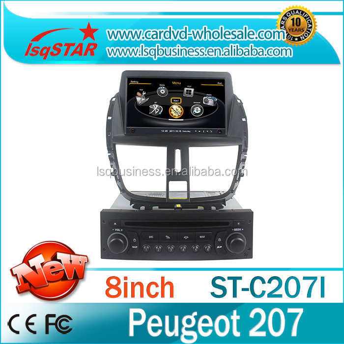 The multimedia system with Car DVD 3G wifi Radio RDS GPS audio Bluetooth for Peogeot 207