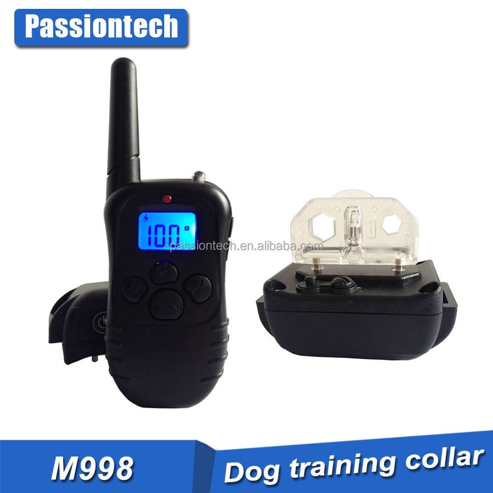 2016 Electric Dog Training Collar No Bark Control Collars Tone/Vibration/Shock Blue Backlight LCD For 15 To 120 Lbs Pets