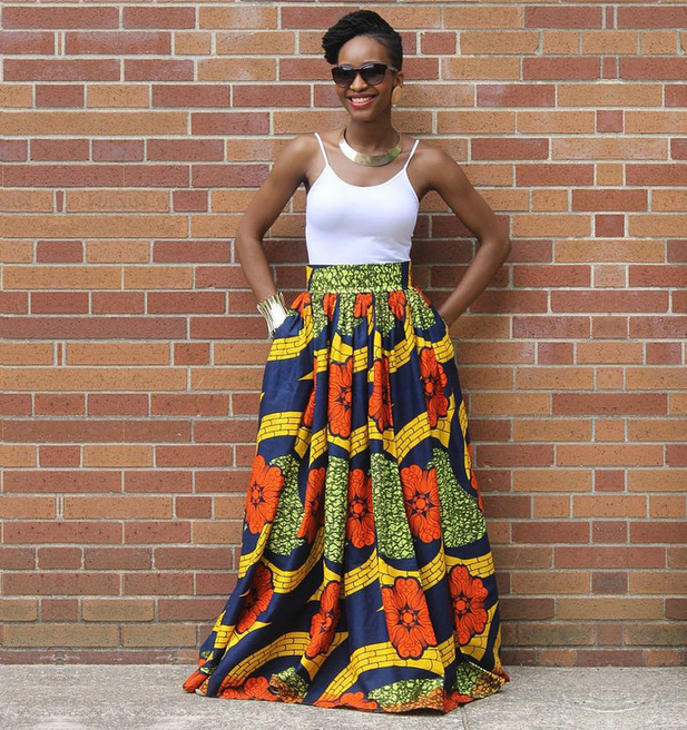 X82516A African coustom print Ladies cotton long maxi skirt new fashion skirts