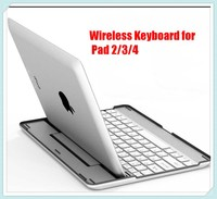 Aluminium Bluetooth QWERTY Wireless Metal Keyboard Case for iPad 2/ 3/4