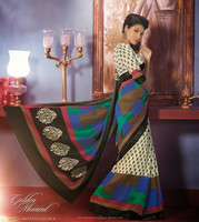 Trendy Party Wear New Designer Saree Bhagalpuri Embroidery Bollywood Saree