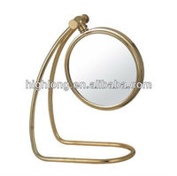 HL-226A hotel shaving mirror gold mirror roll up mirror