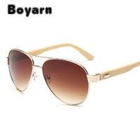 Boyarn Vintage Wood Sunglasses Men Women UV400 Gradient Sun Glasses Driver Sport Eyewear Original Bamboo Sunglass Male