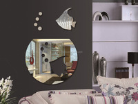 Self Adhesive mirror tile stickers Fish mirror acrylic / PS stickers