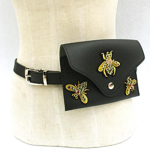 New style fashion leather hip belt bag