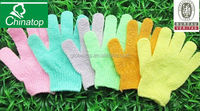Natural Exfoliating Face Body scrub/ wash gloves Scrubbing Spa/ Bath Wash Shower Massage Gloves