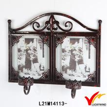 picture frame wall vintage paint candle holders