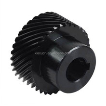 Custom aluminum 45 degree helical gear wheel