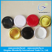 30mm/38mm/43mm/53mm/63mm/70mm/82mm metal printed lug cap, twist off glass jar lids