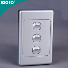 saa igoto AS 306-V 10A 220V NEW Australian vertical type wall switch 3 gang electric wall switch