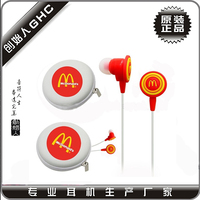 promotion earphone wth PVC logo