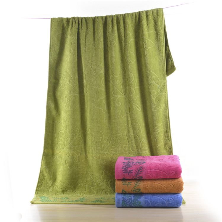 High Quality Cotton And Polyester Green Towels