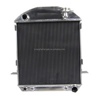 All Aluminum Auto Radiator For FORDchev model T Bucket GRILL SHELLS 24-27 AT/MT