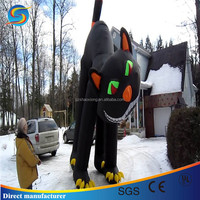 Wholesale factory price of cute Large Inflatable airblown Halloween Black Cats
