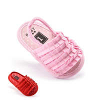 S31375W Korea 2016 latest fashion soft sole baby indoor sandals