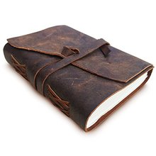 Antique Handmade Leather chinese embossed gift notebook