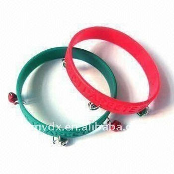 Funny bell silicone wristband