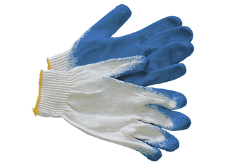 Brand MHR oil resistant double palm coated latex glove for mechanic