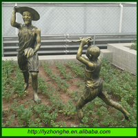 Outdoor Iifesize figure bronze resin statues
