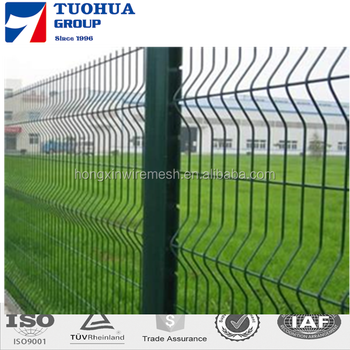 High Quality PVC Coated Curved Bending Triangle Fence