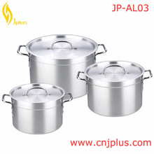 JP-AL03 Lowest Price European 3Pieces Enamel Coated Cast Iron Cookware