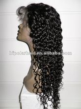 Wholesale Full lace wig human hair 20 inch water curly