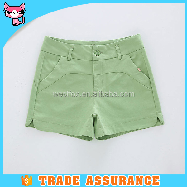 Ladies spandex short pants in pure color