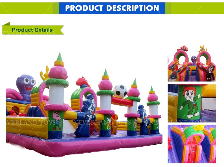 Large Kids Amusement Park Lovely Octopus Fun City Inflatable Bouncer for Sale