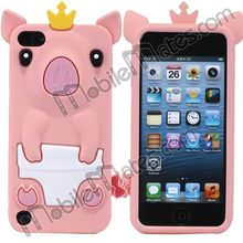 3D Silicone Case Cover + Silicon Animal Case for iPod Touch 5 5th Generation