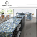 Free consultation design topper translucent stone panel kitchen island laminate blue agate countertop