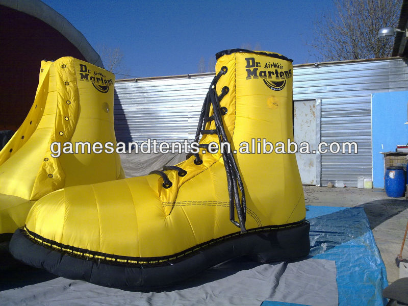 high quality inflatable shoes/boots replica balloon F7045