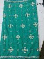 Green Wholesale Indian sari/saree with blouse stitching at Cheap prices