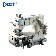 DT-1404PMD DOIT Multi-needle Fat Bed Double Chain Stitch Industrial Sewing Machine With Metering For Attaching Elastic Band