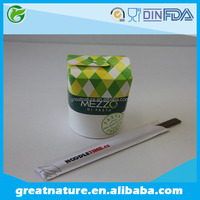 Logo printed disposable food containers with bamboo chopsticks